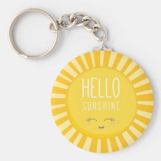 Sol sonriente amarilla intrépida brillante del sol llavero