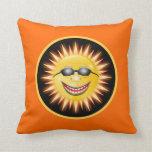 Sol sonriente cojin