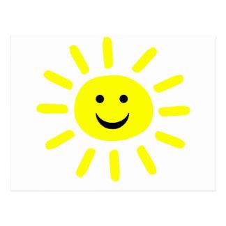 Sol sonriente tarjetas postales