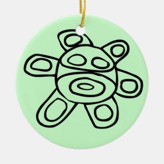 Sol Taíno de Jayuya Ceramic Ornament