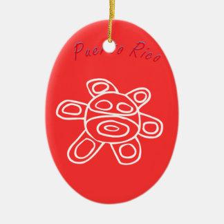 Sol Taino de Jayuya Ceramic Ornament