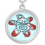 Sol Taíno de Jayuya Round Pendant Necklace