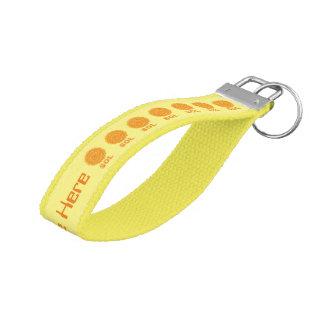 Sol The Sun Space Geek Yellow And Orange Star Wrist Keychain