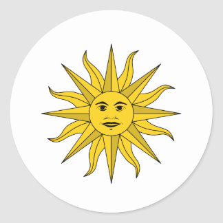 sol Uruguay Classic Round Sticker