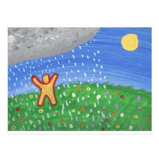 Sol y lluvia postales
