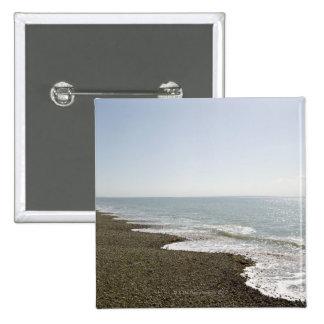 Sol y playa pin cuadrado