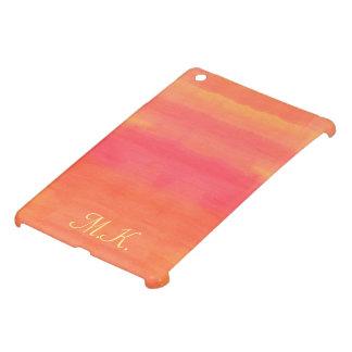 Sol-Yellow and orange ombre watercolor art iPad Mini Cover