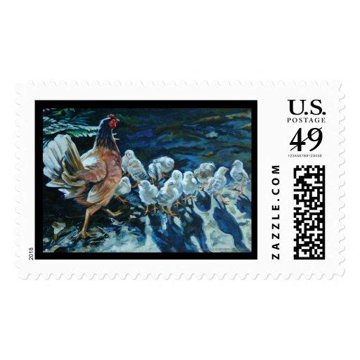 Sola' polluelos de s timbres postales