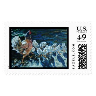 Sola's Chicks Postage Stamp