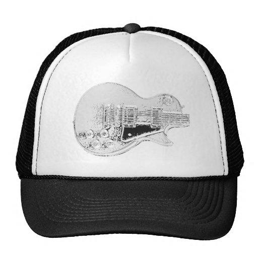 sola copia cortada de la guitarra del cromo gorras