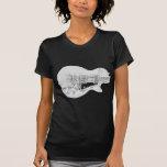 sola copia cortada de la guitarra del cromo camisetas