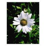 sola flor blanca membretes personalizados