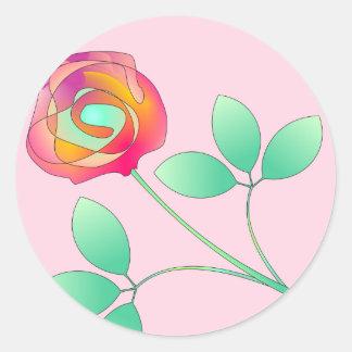 Sola flor pegatina