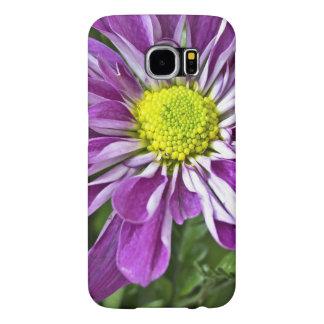 Sola flor púrpura vibrante fundas samsung galaxy s6