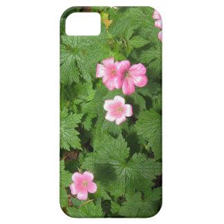 Sola flor rosada de Cranesbill - fotografía iPhone 5 Case-Mate Coberturas