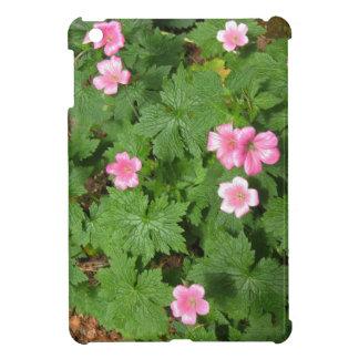 Sola flor rosada de Cranesbill - fotografía iPad Mini Protectores