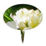 Sola flor salvaje blanca decoraciones para tartas