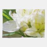 Sola flor salvaje blanca toallas de mano