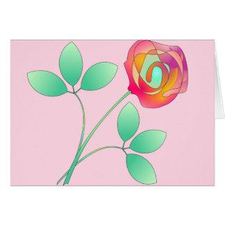 Sola flor tarjeta de felicitación