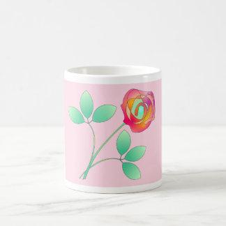 Sola flor taza de café