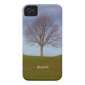 Sola foto de la naturaleza del árbol, iPhone Carcasa Para iPhone 4