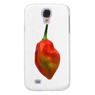 Sola fotografía de la pimienta de Habernero Funda Para Galaxy S4