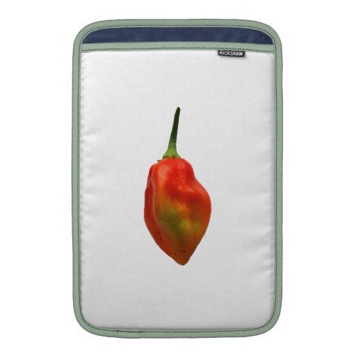 Sola fotografía de la pimienta de Habernero Fundas Macbook Air