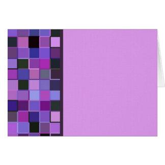 Sola frontera cuadrada púrpura tarjeta de felicitación