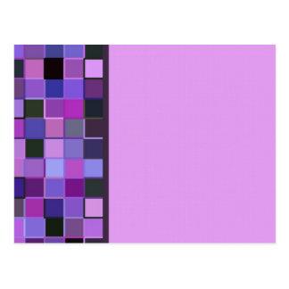 Sola frontera cuadrada púrpura tarjeta postal