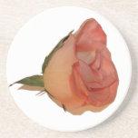 Sola imagen color de rosa rosada del recorte de la posavasos para bebidas