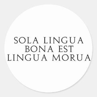Sola Lingua Bona Classic Round Sticker