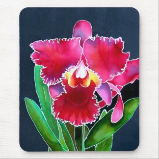 Sola orquídea rosada alfombrilla de raton