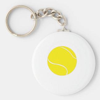 Sola pelota de tenis llavero redondo tipo pin