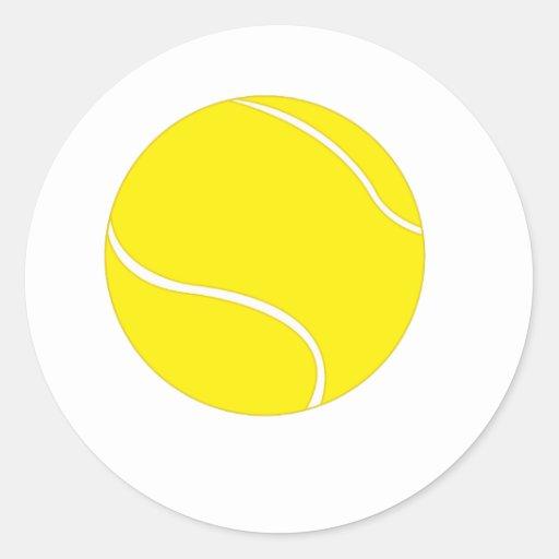 Sola pelota de tenis pegatina redonda