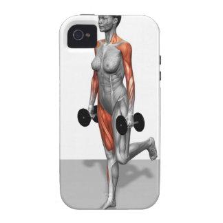 Sola pierna Deadlift 2 de la pesa de gimnasia Case-Mate iPhone 4 Funda
