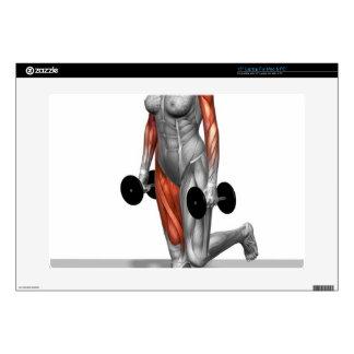 Sola pierna Deadlift 2 de la pesa de gimnasia Skins Para Portátil