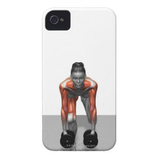 Sola pierna Deadlift 3 de la pesa de gimnasia Case-Mate iPhone 4 Cárcasas