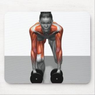 Sola pierna Deadlift 3 de la pesa de gimnasia Alfombrillas De Raton