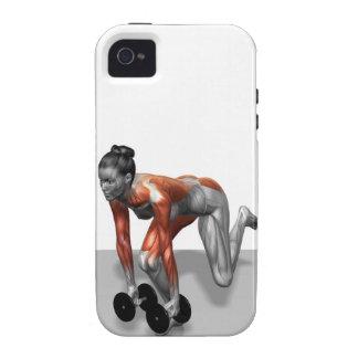 Sola pierna Deadlift de la pesa de gimnasia Case-Mate iPhone 4 Funda