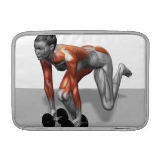 Sola pierna Deadlift de la pesa de gimnasia Funda Macbook Air