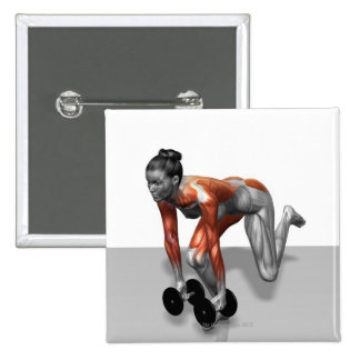 Sola pierna Deadlift de la pesa de gimnasia Pin