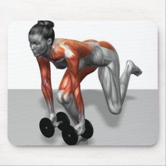 Sola pierna Deadlift de la pesa de gimnasia Tapete De Ratones