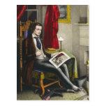 Sola pintura del soltero postal
