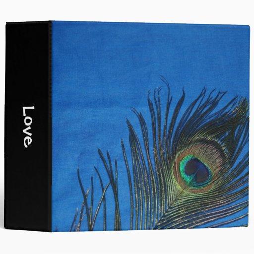 "Sola pluma azul del pavo real carpeta 2"""