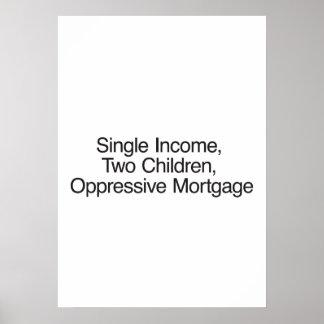 Sola renta, dos niños, hipoteca opresiva posters