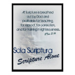 Sola Scriptura/ scripture alone Posters