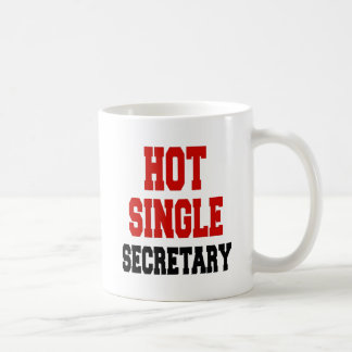 Sola secretaria caliente taza clásica