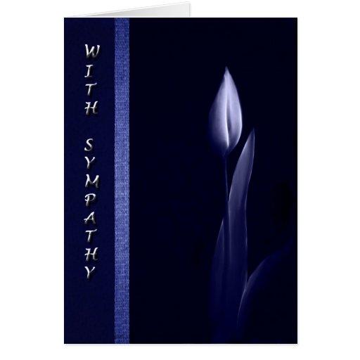 sola tarjeta de condolencia del tulipán