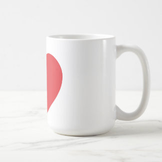 Sola taza roja del corazón