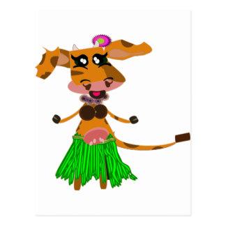Sola, the hula-hula moo-cow. postcard